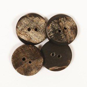 Knoop 20 mm buffelhoorn, hoekig - 537
