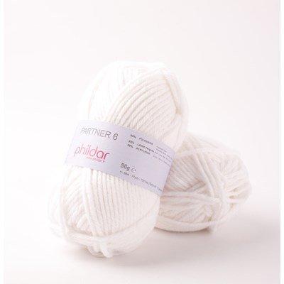 Phildar Partner 6 Blanc 0010 - 1225