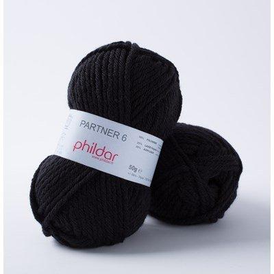 Phildar Partner 6 Noir 0067 - 1200