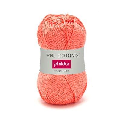 Phildar Phil coton 3 Corail 1268 - 33