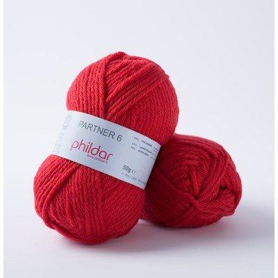 Phildar Partner 6 Rouge 0084 - 1459