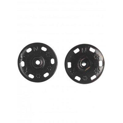 Drukknoop 21 mm zwart 3 stuks - 258911