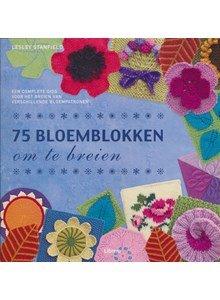 75 bloemblokken om te breien (op=op)