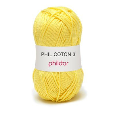 Phildar Phil coton 3 Citron 1111 - 63 op=op uit collectie