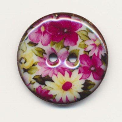 Knoop 40 mm met bloem - 5650