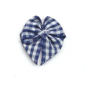 Strikje geruit donker blauw - wit 10 stuks