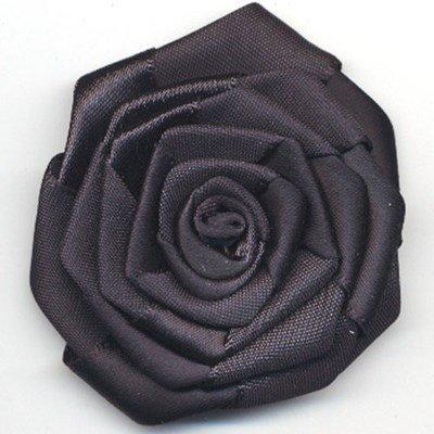 bloem satijn 60 mm - zwart 1 stuks op=op