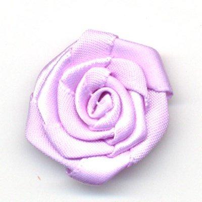 bloem satijn 35 mm - lila 1 stuks op=op