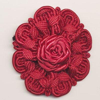 bloem koord 60 mm - donker rood 1 stuks op=op