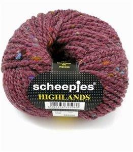 Scheepjes highlands 506 wijn rood op=op 8x550398,1x132968