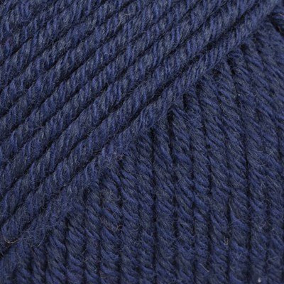 DROPS Cotton merino 08 marine blauw