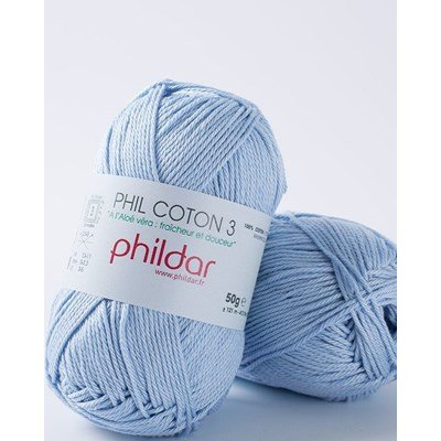 Phildar Phil coton 3 Azur