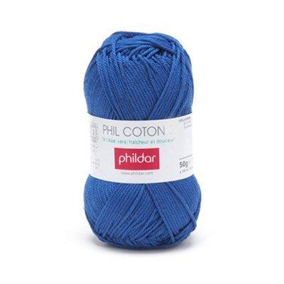 Phildar Phil Coton 4 Outremer 0040 - blauw