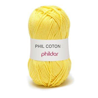 Phildar Phil Coton 4 Citron 0063 - geel fel