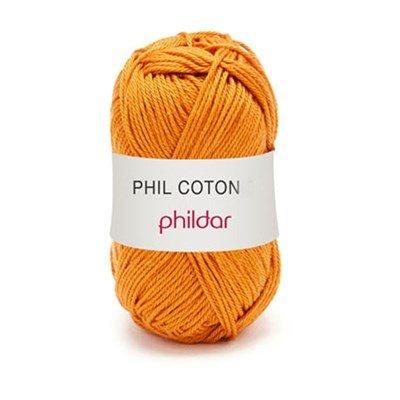 Phildar Phil Coton 4 Girafe 0071 - oranje bruin op = op