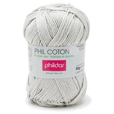 Phildar Phil Coton 4 Perle 0004 - grijs licht