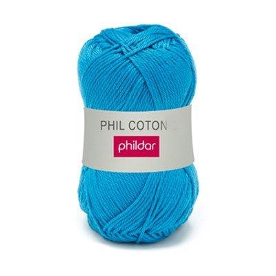 Phildar Phil Coton 4 Pacifique 0060 - blauw op=op uit collectie