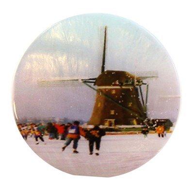 knoop 20 mm winter in Holland molen schaatsen