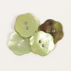 Knoop 20 mm bloem groen - 601