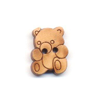 knoop 12 a 16 mm beer - licht hout