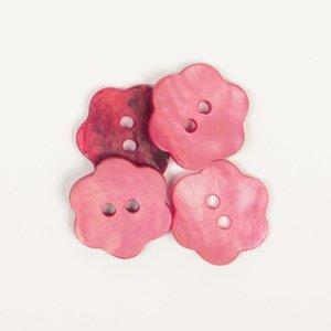 Knoop 15 mm bloem rood - 617