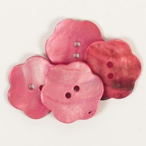 Knoop 25 mm bloem rood - 604