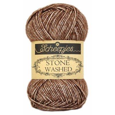 Scheepjes Stone Washed 822 brown agate