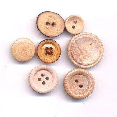 Knoop 15 mm - bol hout