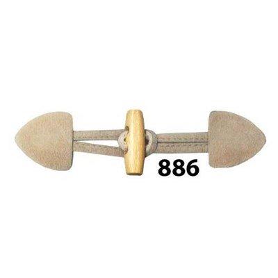 Knoop 40 mm houtje touwtje licht hout - 886 beige