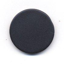 Knoop 24 mm rond-vlak zwart