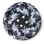Knoop 20 mm bloem zwart-wit