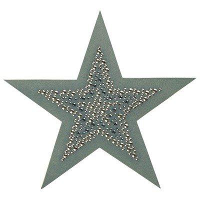 applicatie ster 10130 027 licht leger groen 14 cm