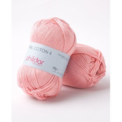 Phildar Phil Coton 4 Rose saumon 0093 - roze huidskleur