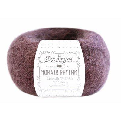 Scheepjes Mohair Rhythm 671 quickstep - donker oud roze op=op