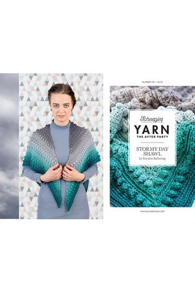 Scheepjes Yarn after party no. 09 Stormy Day omslagdoek