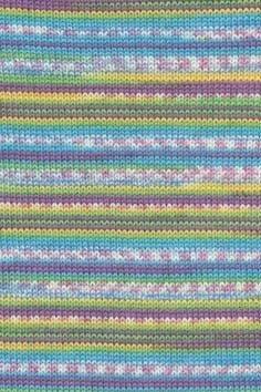 Lang Yarns Merino 200 bebe color 155.0478 - blauw groen streep op=op