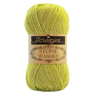 Scheepjes Stone Washed 827 Paridot - lime groen