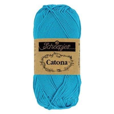 Scheepjes Catona 146 Vivid Blue 50 gram - aqua
