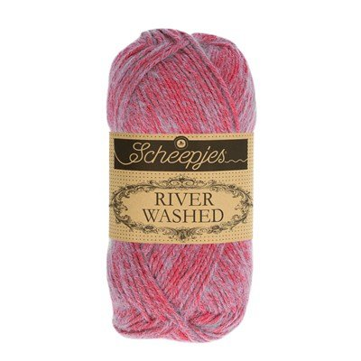 Scheepjes River Washed 945 Ganges - roze mint