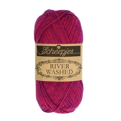 Scheepjes River Washed 942 Steenbrass - roze paars