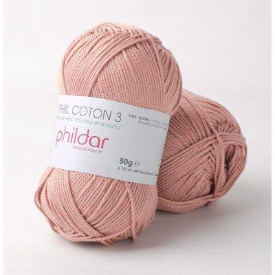 Phildar Phil coton 3 Vieux rose 0030
