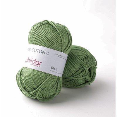 Phildar Phil Coton 4 Roseau - groen