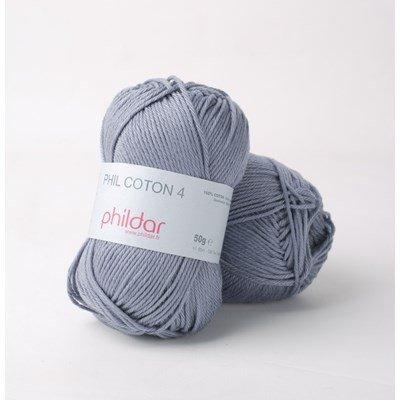 Phildar Phil Coton 4 Jeans - blauw denim