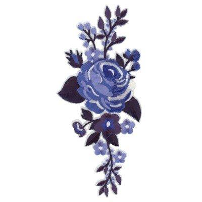Applicatie rosa blauw