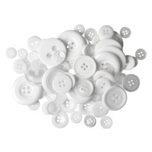 Knoop 10 mm transparant - wit