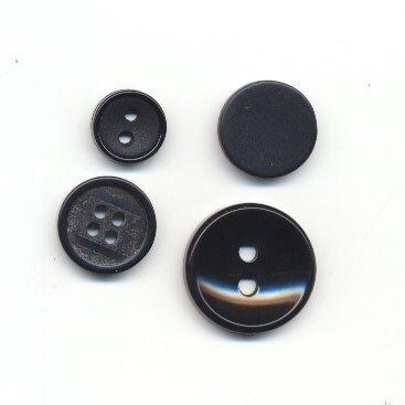 Knoop 12 mm zwart op=op