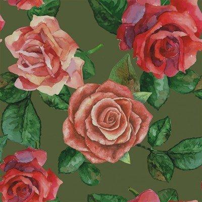 Stenzo tricotstof rozen - groen 50 cm