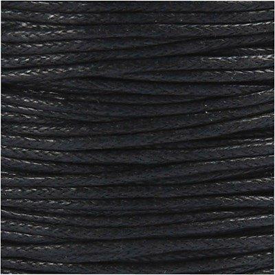 Katoenkoord 1 mm 51580 zwart ca 40 meter