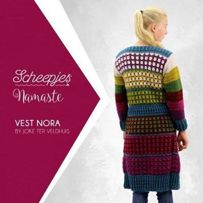 Leaflet Vest Nora - Scheepjes Namaste