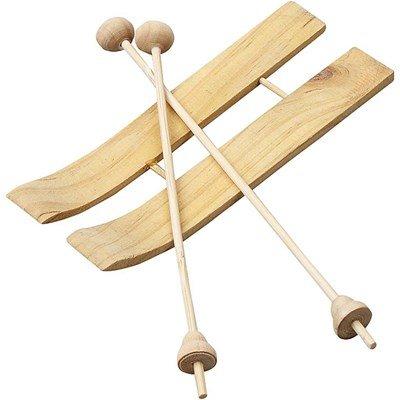 Houten ski s met stokken 11 a 3,8 cm 3 paar